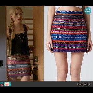 ASO MTV Scream Topshop Aztec Skirt Size 10